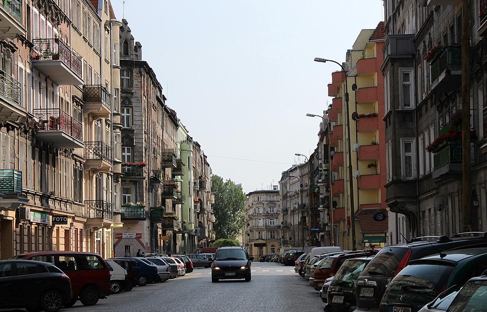 Straße aus deutscher Zeit in Wroclaw