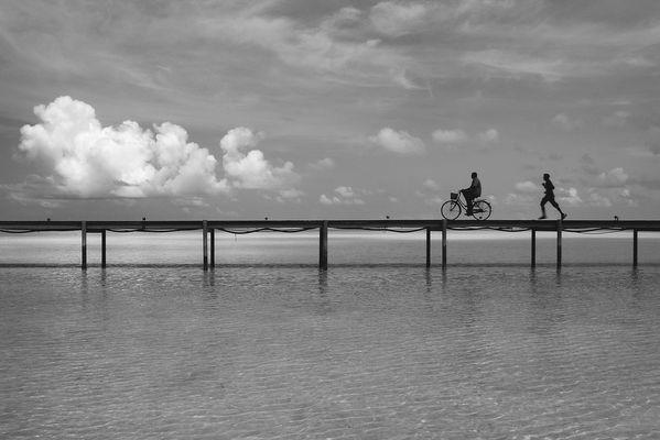 Straße im Meer