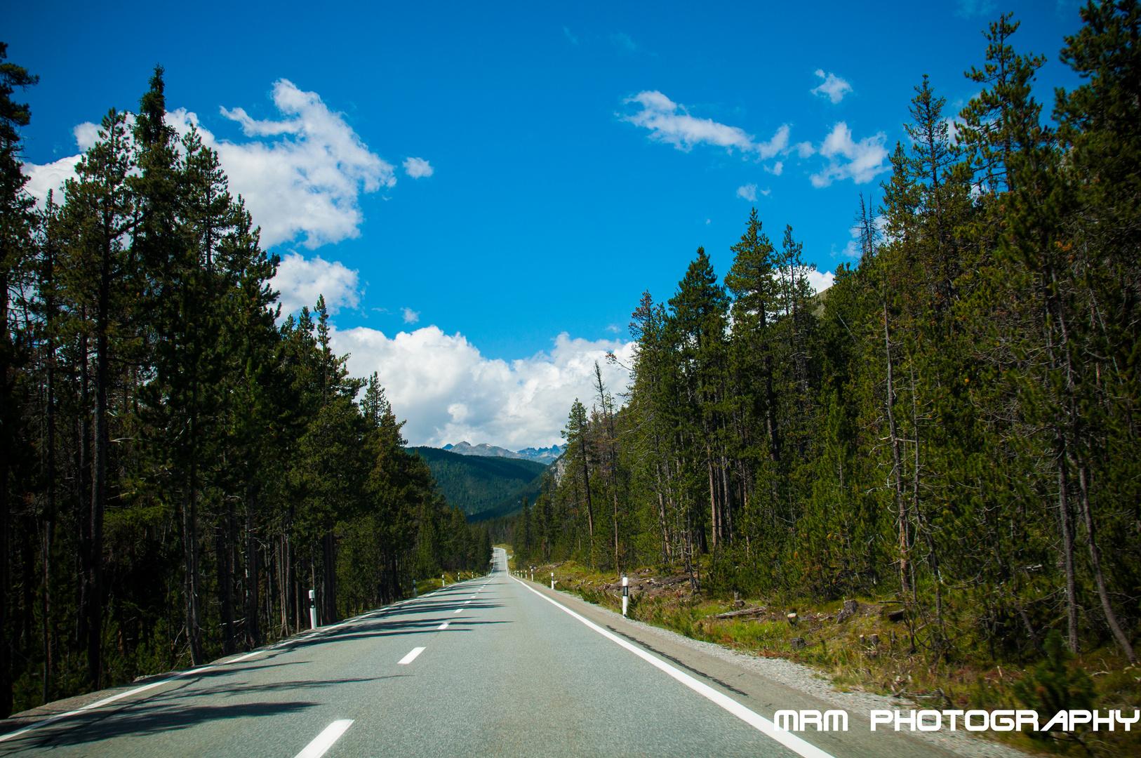 Strasse im Schweizerischen Nationalpark....