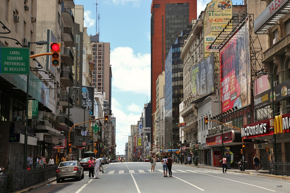 Straße in Buenos Aires