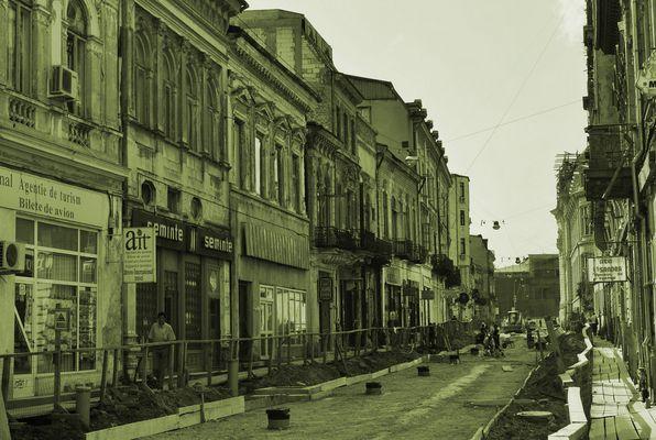 Straße in Bukarest