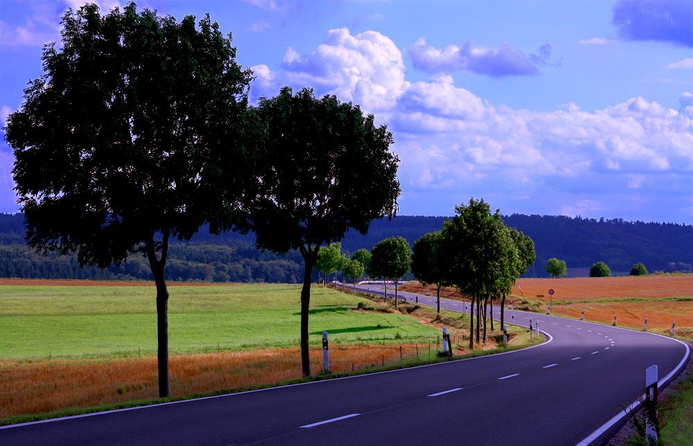 Straße in der Eifel