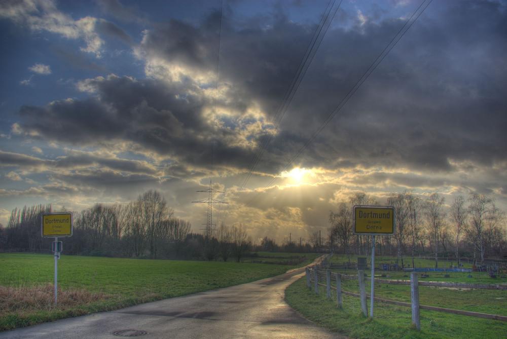 Straße in Dortmund Derne