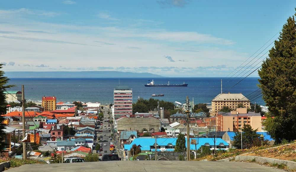 Straße in Punta Arenas