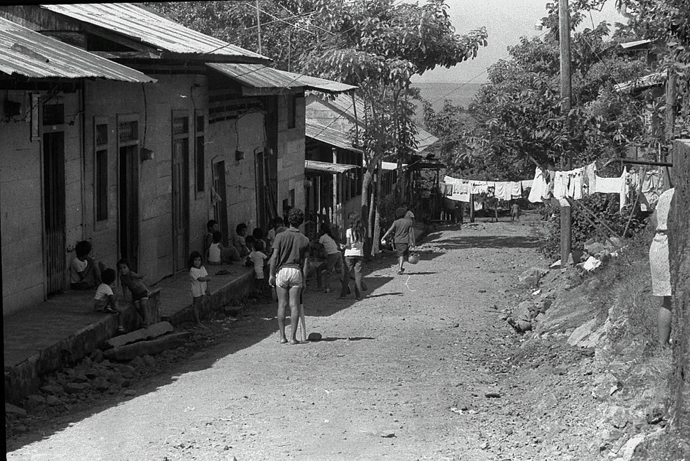 Straße in San Carlos 1986