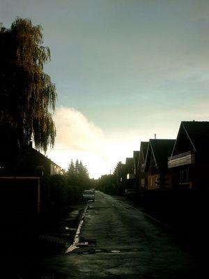 Straße nach Regen