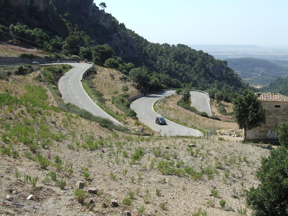 Straße von Palma nach Soller