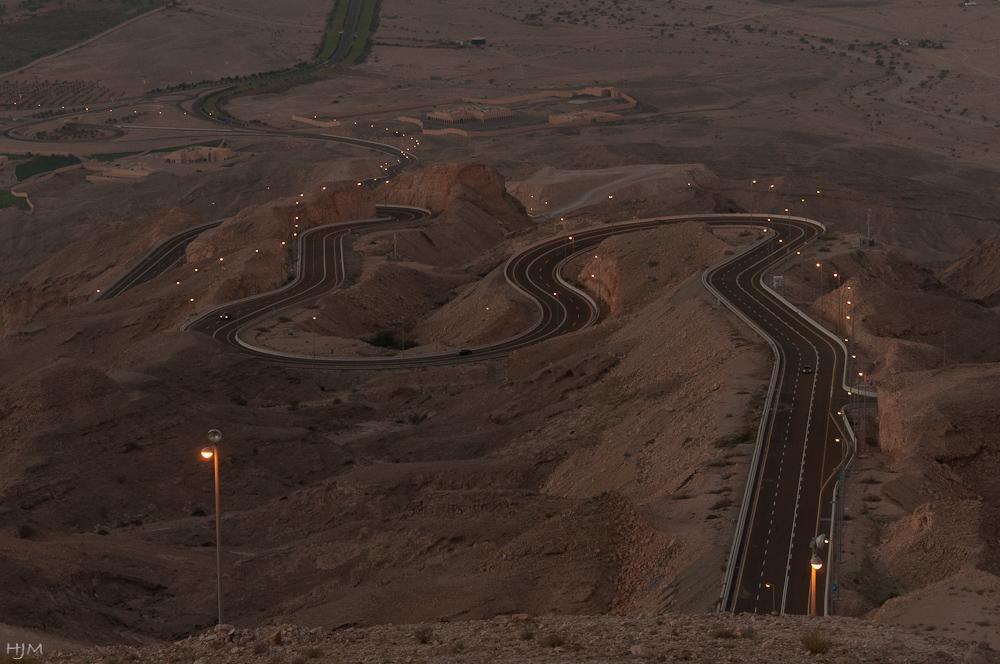 Strasse zum Jebel Hafeet