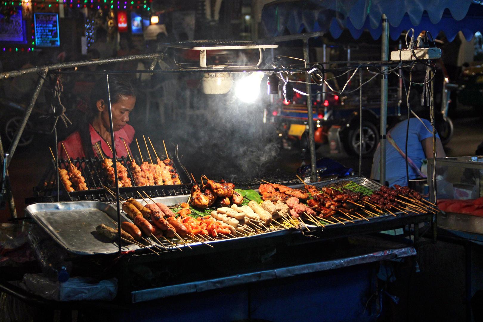 Straßen Grill Bangkok