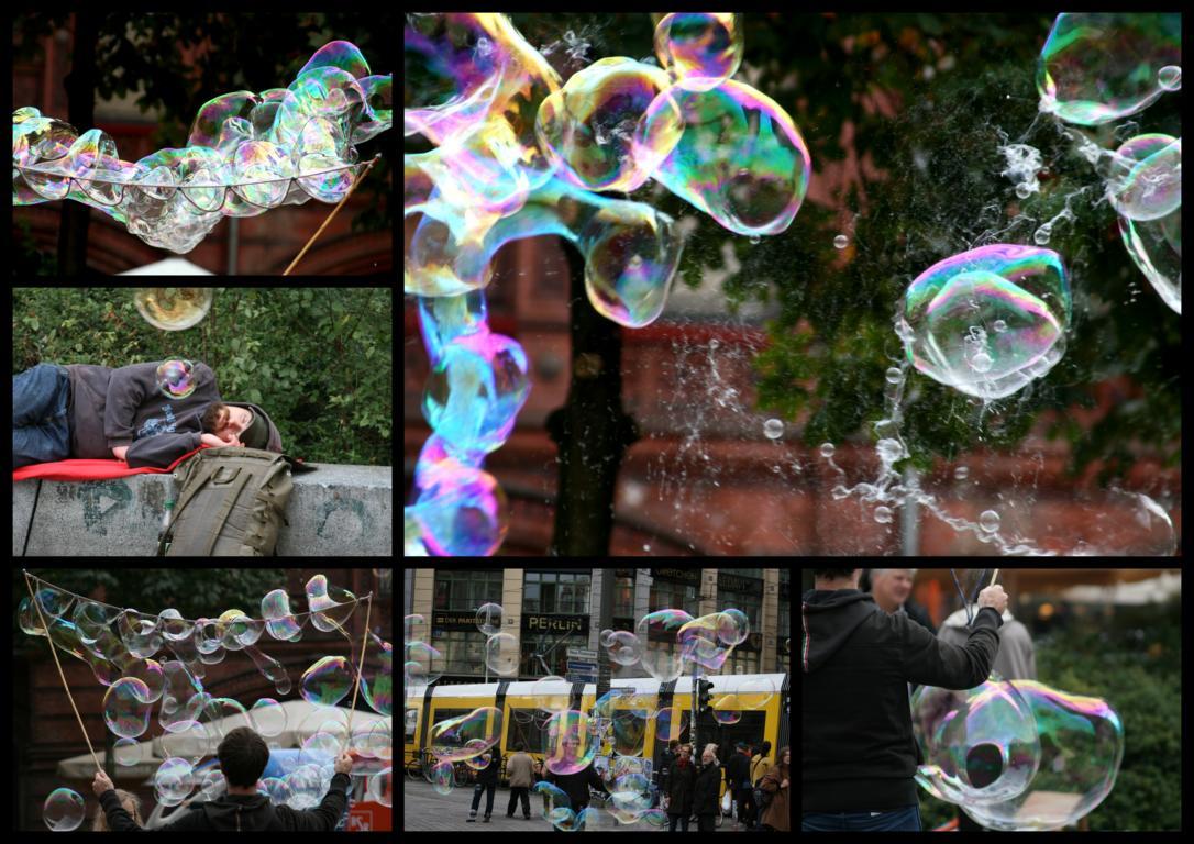 Straßen-Seifenblasen