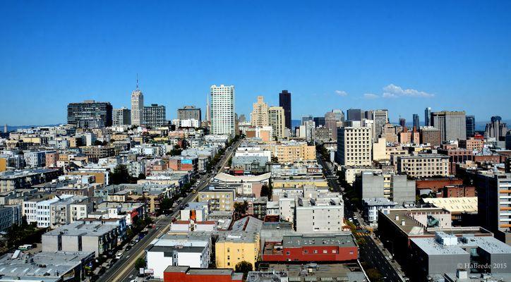 Straßen und Skyline von San Francisco