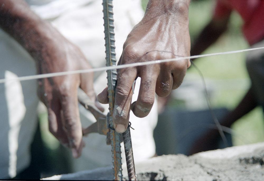 Straßenarbeiter auf Dominica