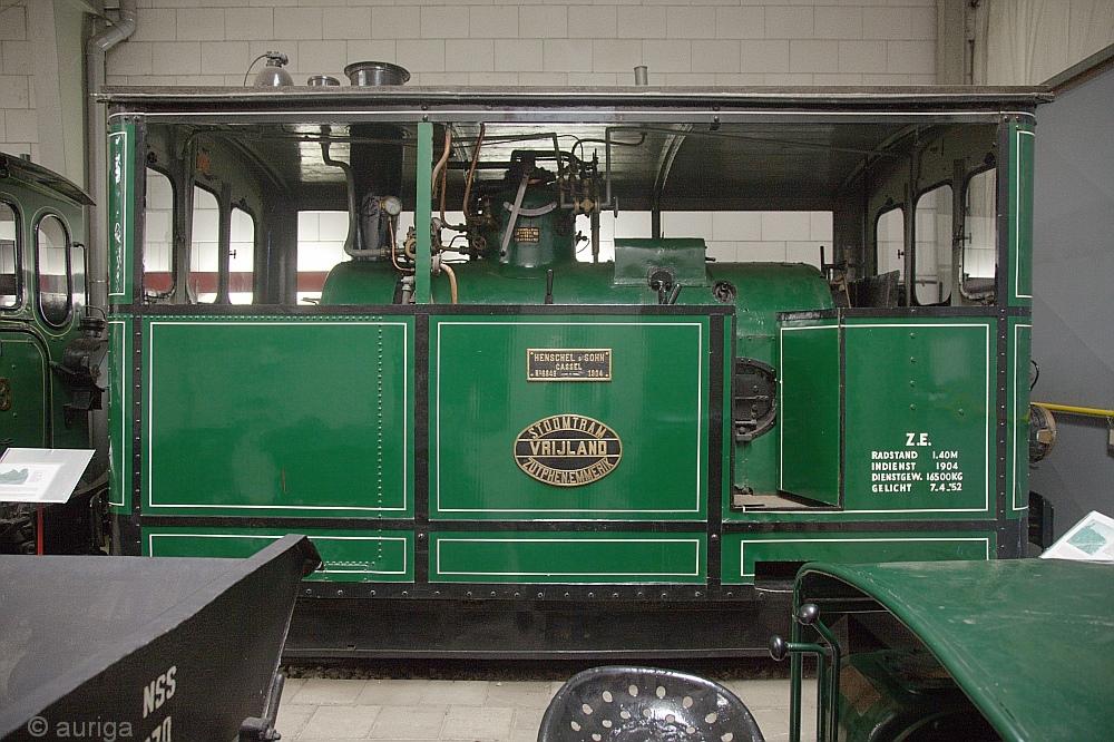 Straßenbahn-Dampflokomotive Bj. 1904