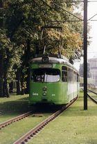 Straßenbahn der Linie 16 in Hannover am letzten Betriebstag 28.9.1996 Höhe Zoo