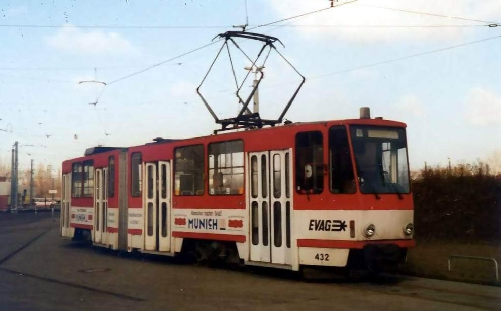 Straßenbahn Erfurt Tatra 432 KT4D [1997]