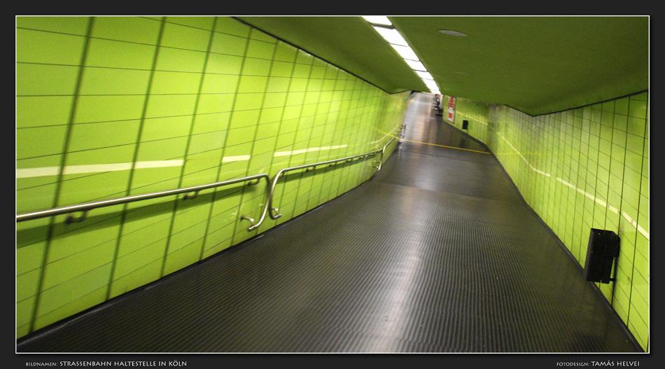 Strassenbahn Haltestelle in Köln
