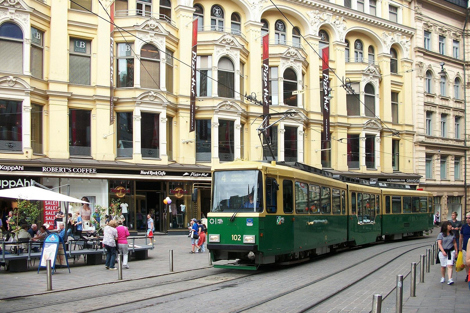 Strassenbahn Helsinki Finnland (Juni 2013)