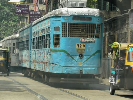 Strassenbahn in Kalkutta