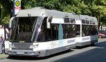 """""""Straßenbahn"""" in Münster von Günter Walther"""