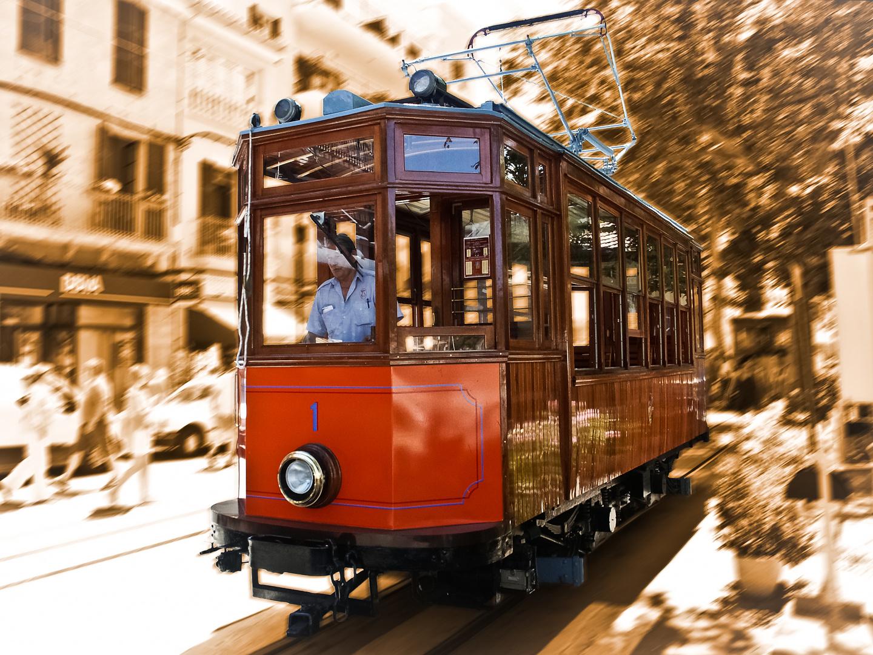 Straßenbahn in Soller auf Mallorca