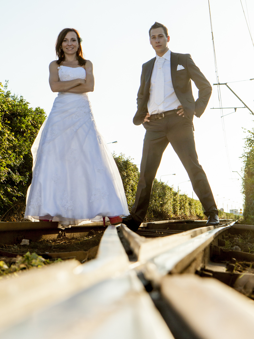 strassenbahn und Hochzeit