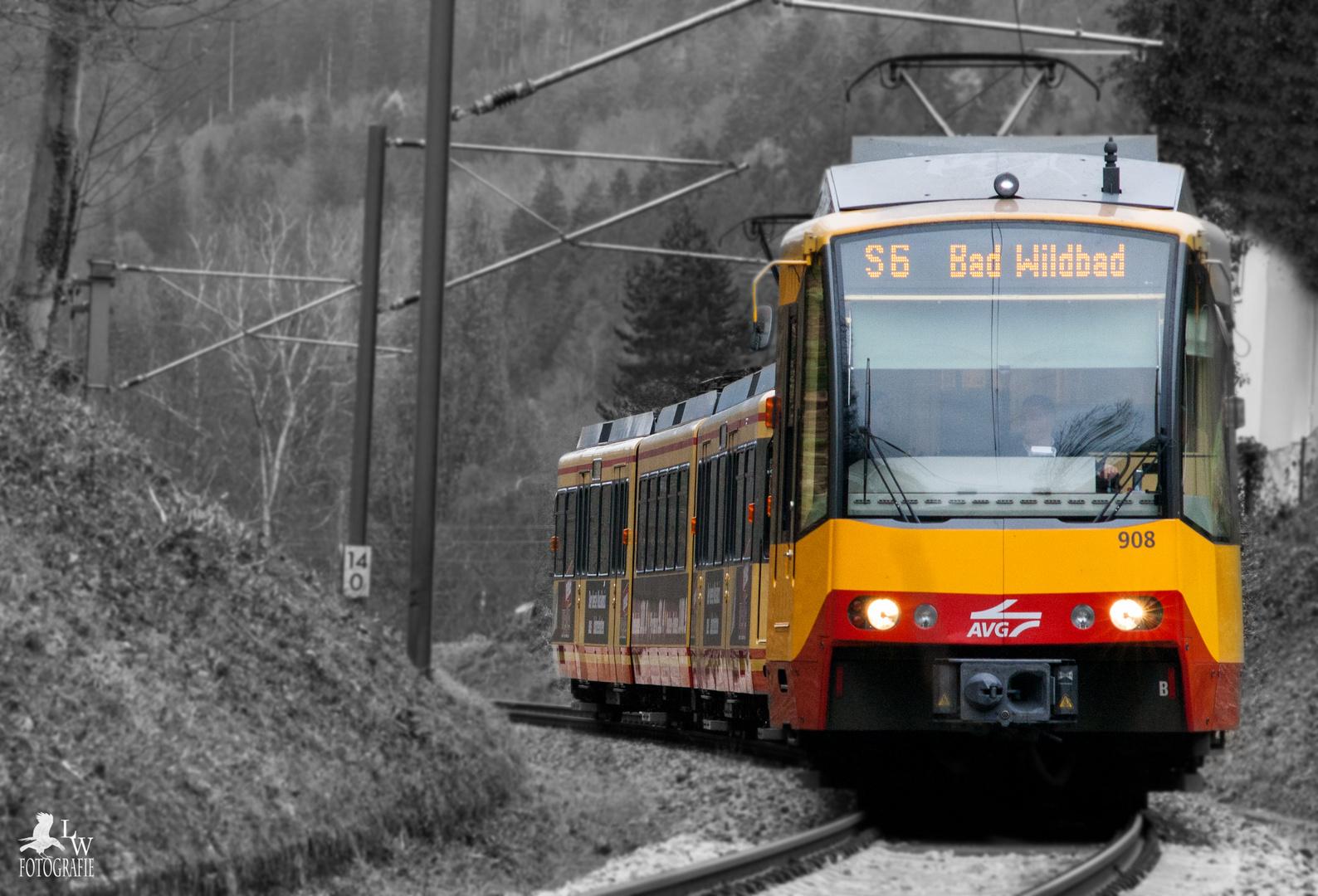 Bad Pforzheim straßenbahn pforzheim nach bad wildbad s6 foto bild