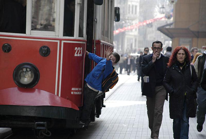 Straßenbahn zum Taksim-Platz