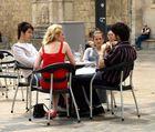 Straßencafe in Narbonne/F
