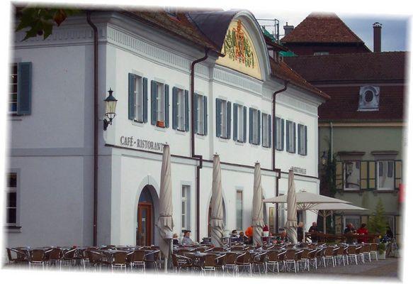 Straßencafe in Überlingen