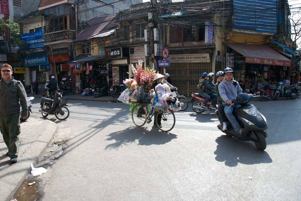 Strassenecke in Hanoi