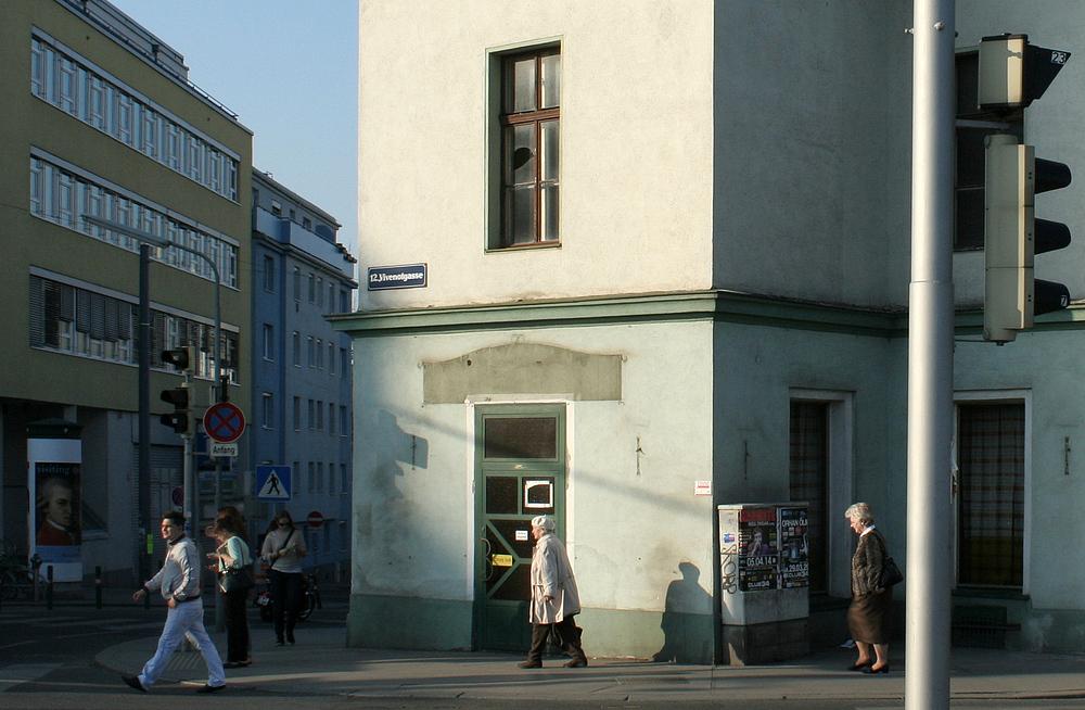 Straßenecke in Meidling
