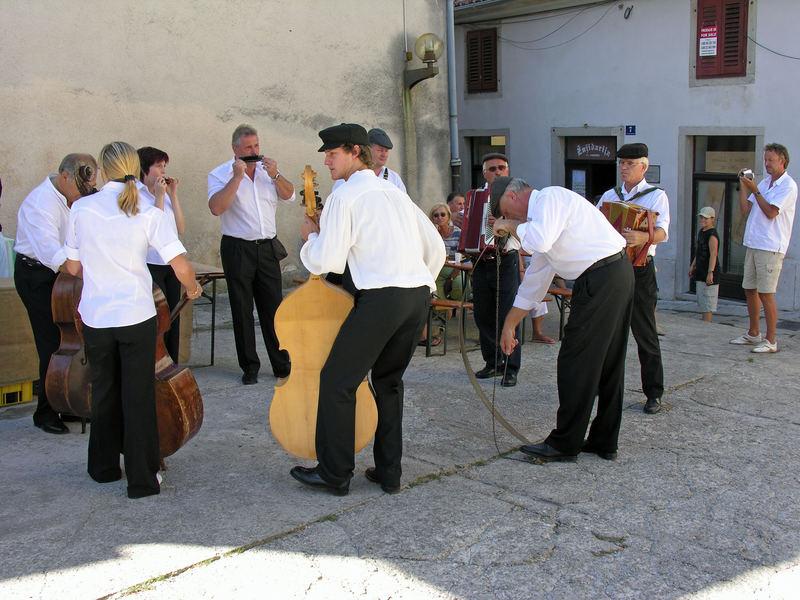 Straßenfest in Buzet Istrien