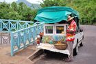 Straßenhändler - frisches Obst auf Mauritius