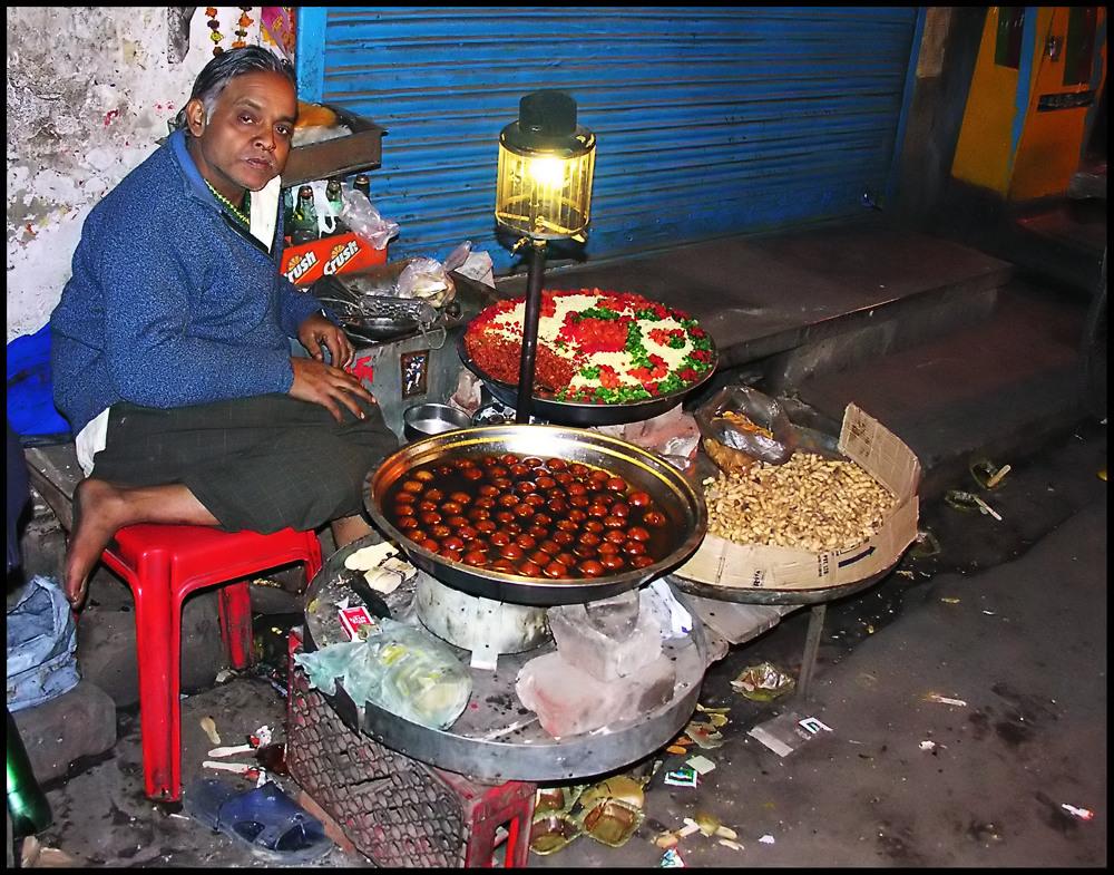Straßenhändler in Neu Delhi