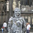 Straßenkünstler Domplatte Köln
