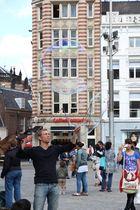 Straßenkünstler in Amsterdam