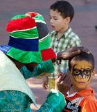 Straßenkünstler in Kapstadt, Südafrika