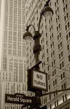 Straßenlaterne am Empire State Building