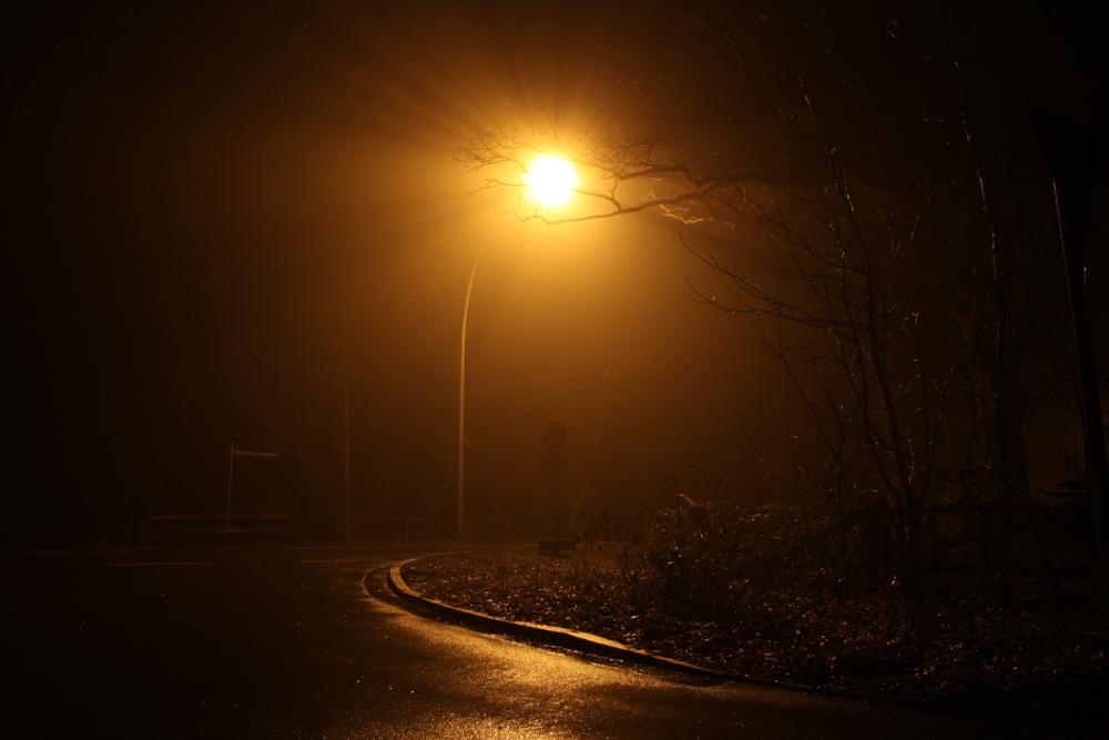 Straßenlaterne im Nebel
