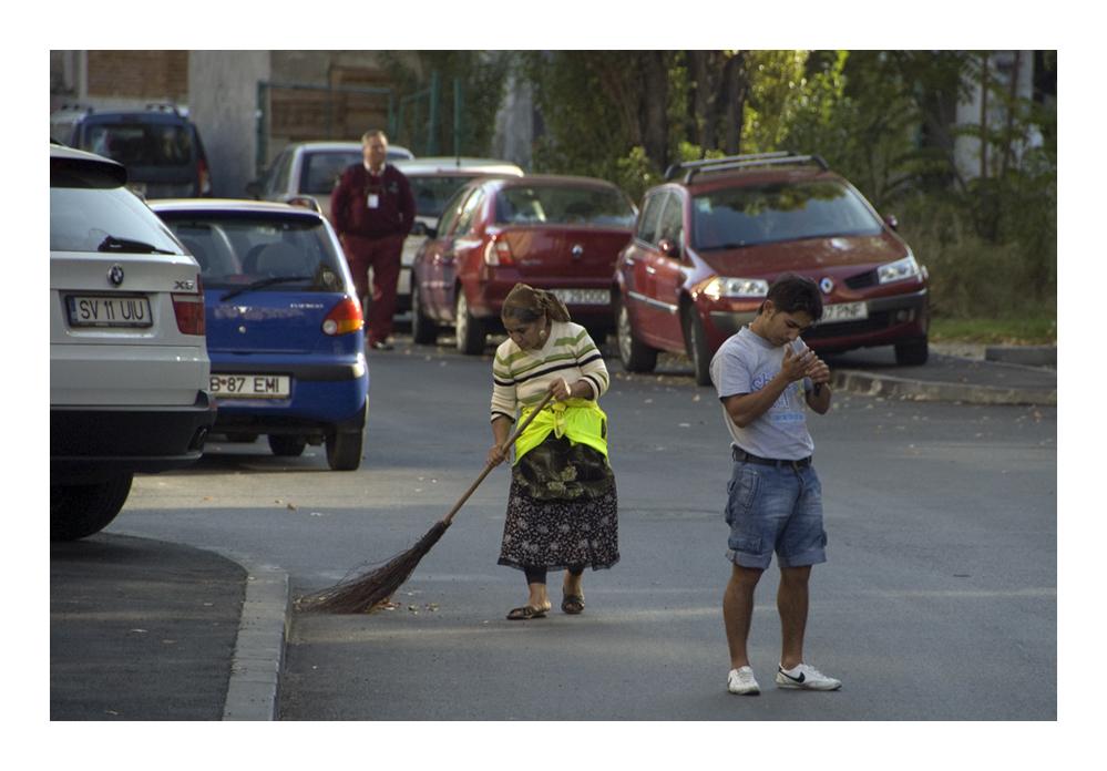 Straßenleben in Bukarest
