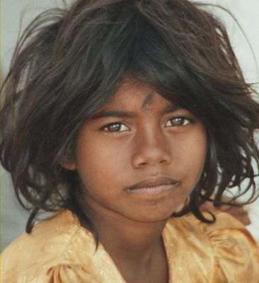 Strassenmädchen in Nepal