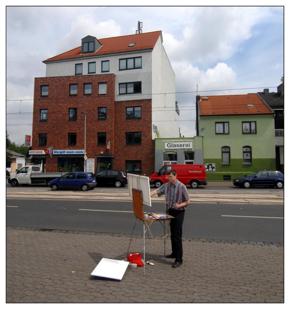 Strassenmalerei in Hainholz