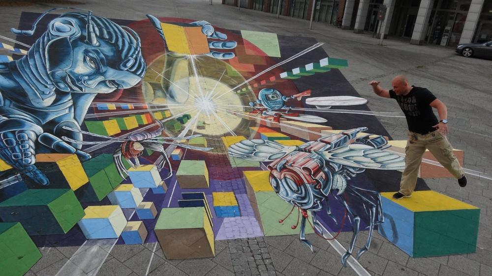 Straßenmalerei in Wilhelmshaven