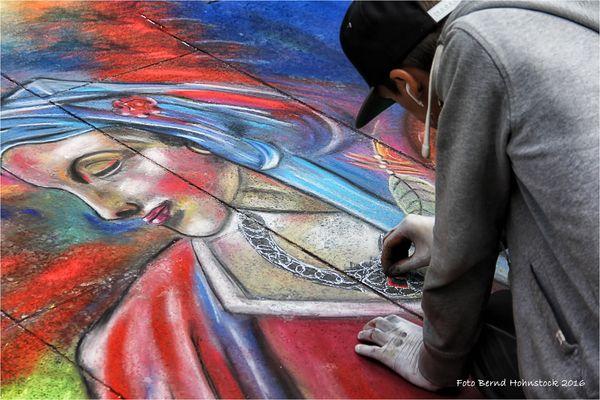 Straßenmalerei ..... Kölner Domplatte