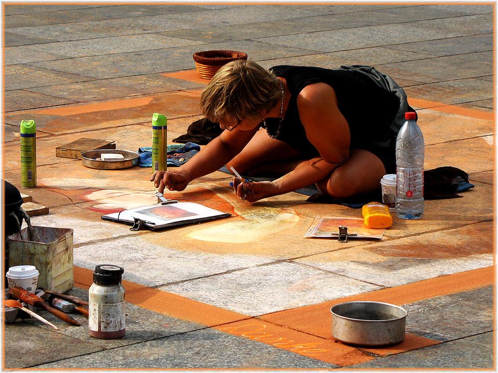 Straßenmalerin