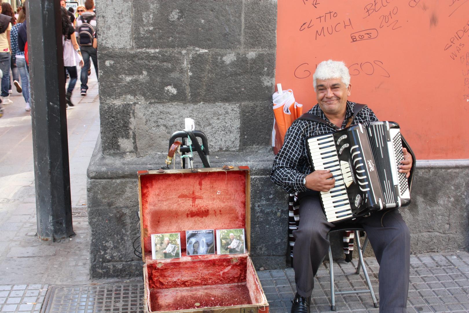 Straßenmusikant auf Gran Canaria