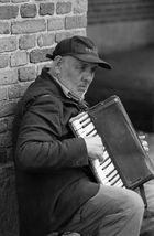 Straßenmusikant in Kopenhagen