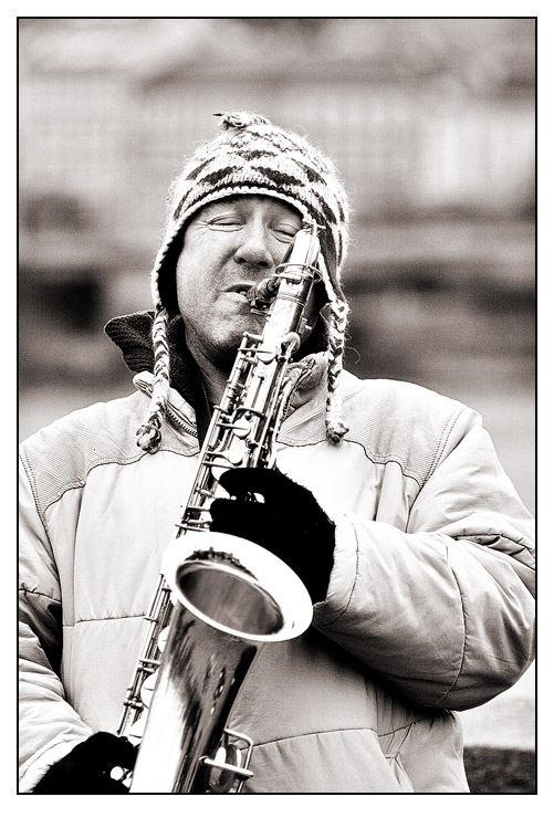 Straßenmusiker auf der Prager Karlsbrücke III