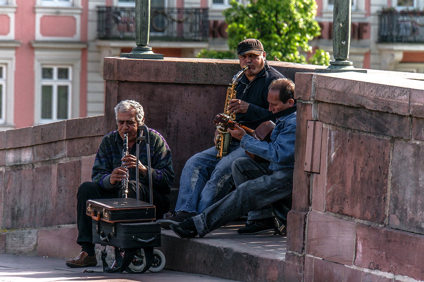 Straßenmusiker..