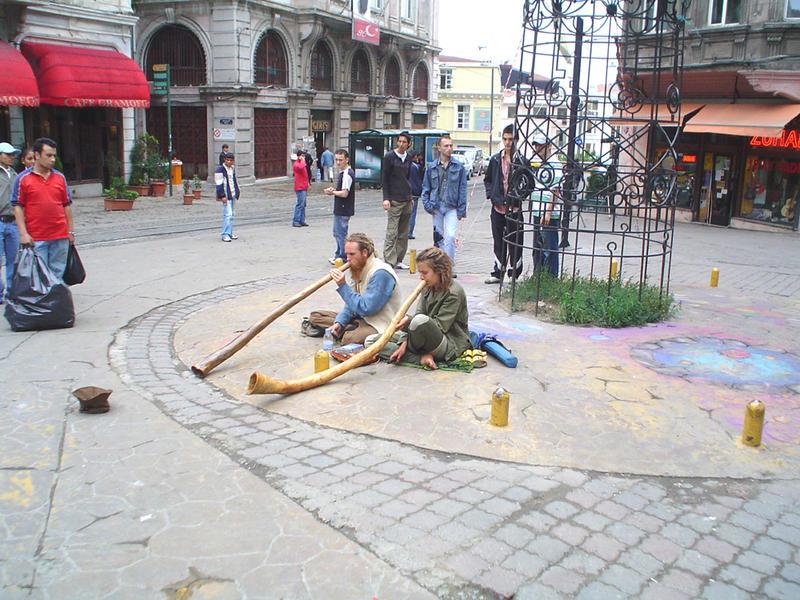 Strassenmusiker in Beyoglu-Istanbul